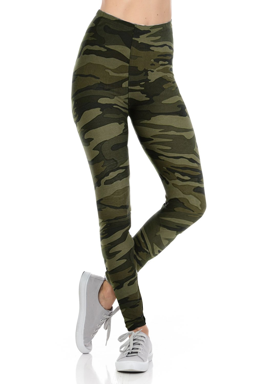 bluensquare Leggings High Waist Premium Soft Brushed 4 Way Stretched Variations by Amazon Famous Buttery (OneSize(0-12), Camouflage)
