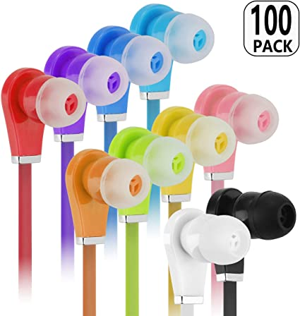 24 pc Wholesale Lot  Stereo Earbuds Headphones Earphones  Digital Sound Silicone