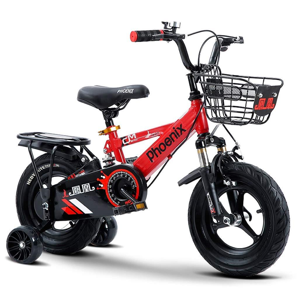 子供の自転車 男の子と男の子のペダルの自転車 屋外のお出かけの子供の自転車 2-10歳の子供のファッション自転車 子供のペダルの自転車 (Color : Red, Size : 18 inches) 18 inches Red B07Q16YGLF
