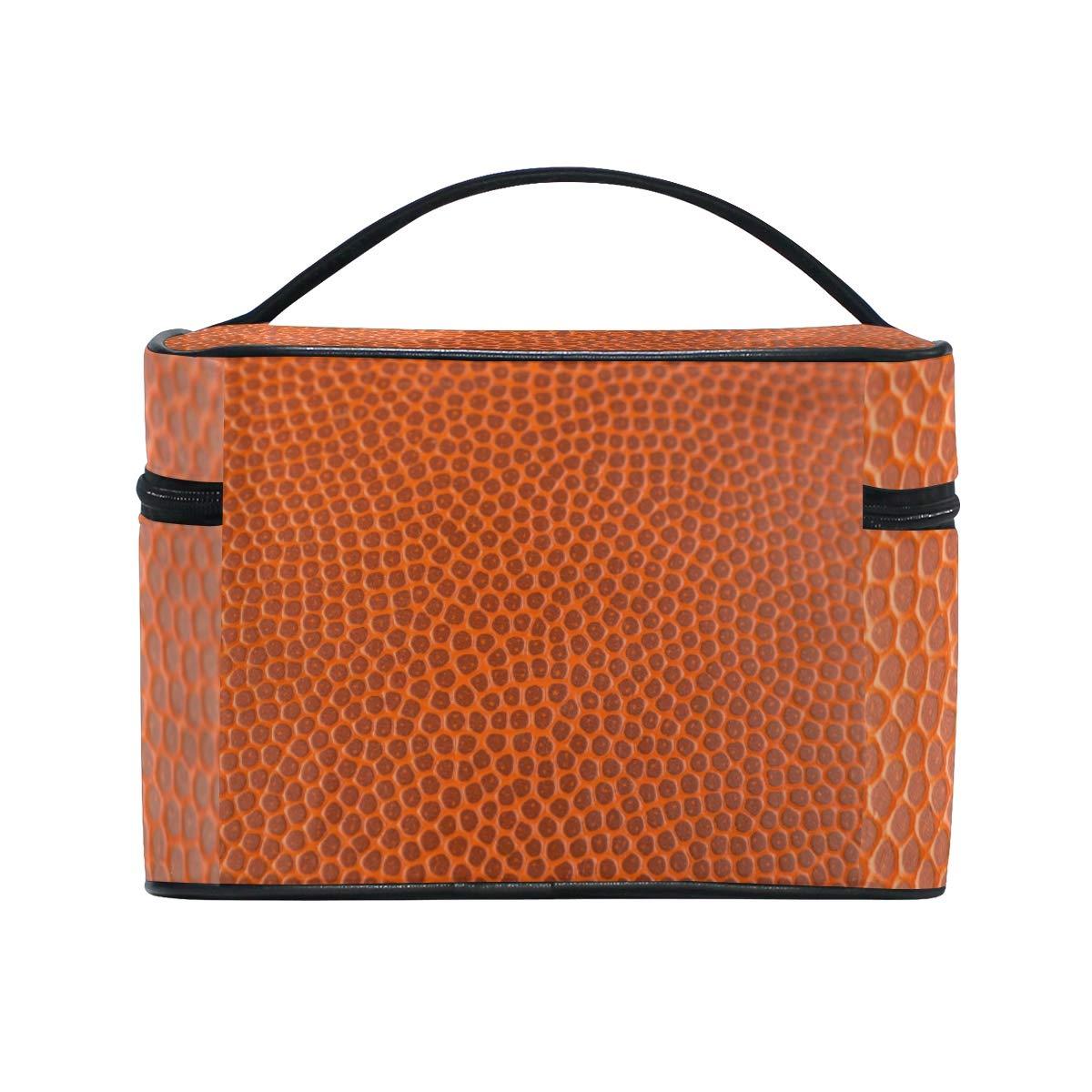 Neceser de Viaje con Textura de Baloncesto, Color Naranja ...