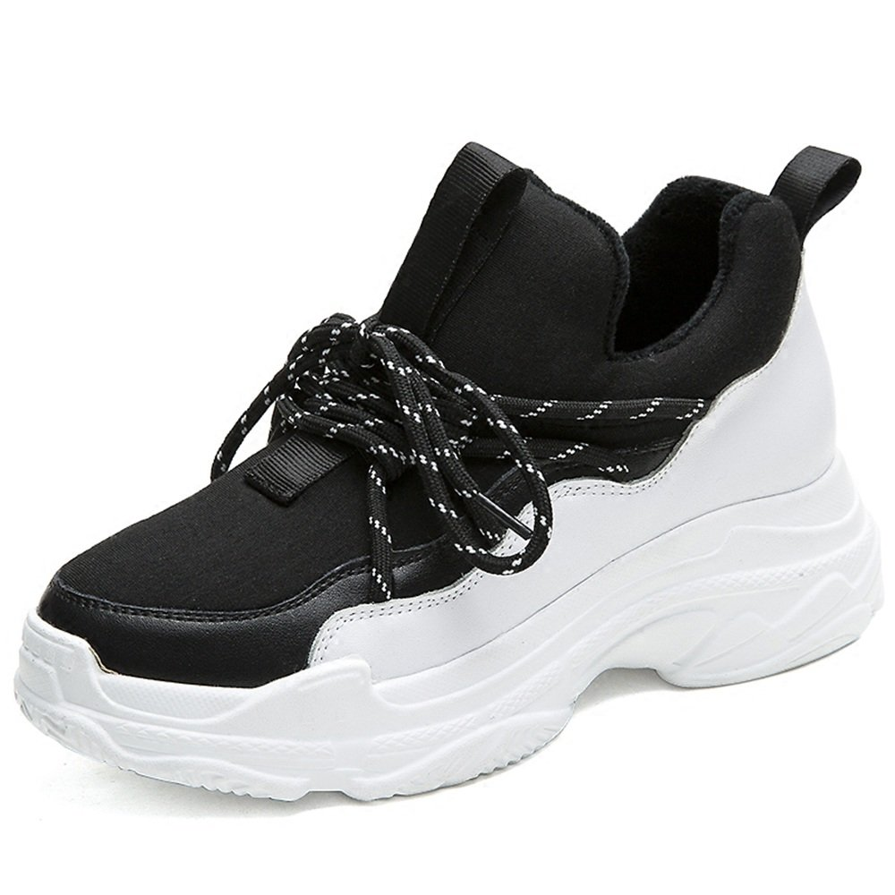 LVZAIXI Schuhe Ultra Fire Schuhe Sportschuhe koreanische Version Street Shooting Bf Wind Damenschuhe gemütlich ( Farbe   Schwarz , größe   EU36 UK4 CN36 )