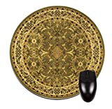 Green Persian/Oriental Rug-Mat- Round Mouse pad - Stylish, durable office accessory and gift