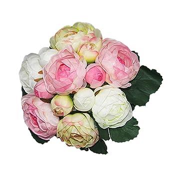 Bouquet Sposa Gelsomino.Artificiale 13 Teste Di Gelsomino Nuziale Della Damigella D Onore