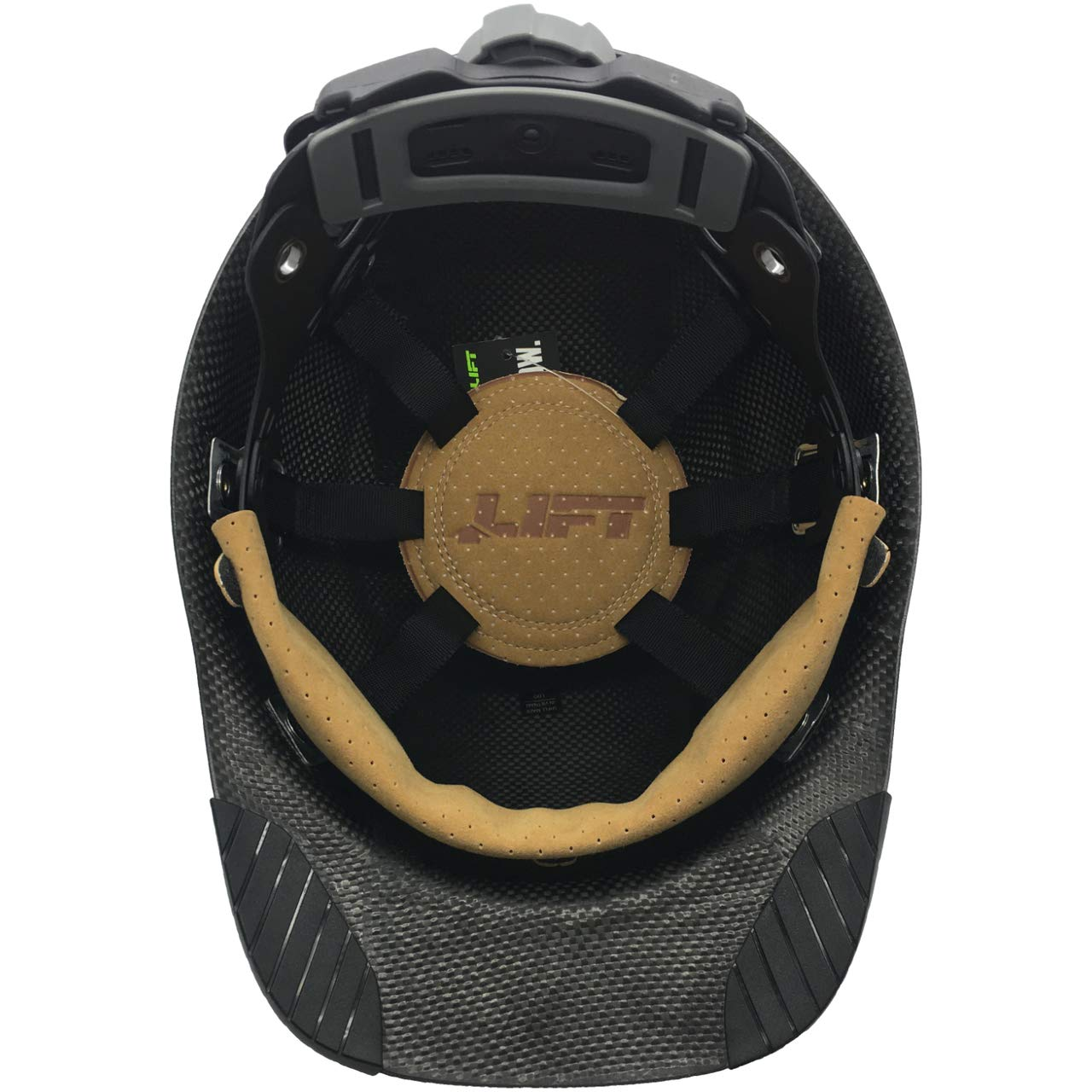 DAX Actual Carbon Fiber Cap Style Hard Hat - Matte Black by DAX (Image #4)