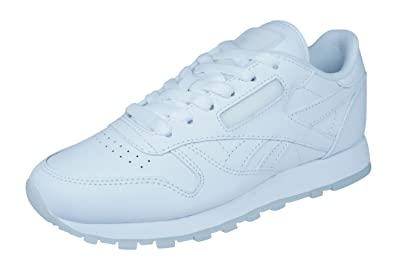 63076e594c0 Reebok Classic Leather Solids Mens Leather Sneakers Shoes-White-3.5