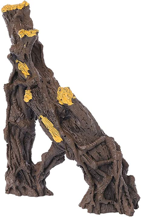 MYA - Corcho de Corcho con Agujero de árbol, Nido para Dodge, escondite y árbol de escondite de Resina para decoración de Acuario de Madera Natural ...