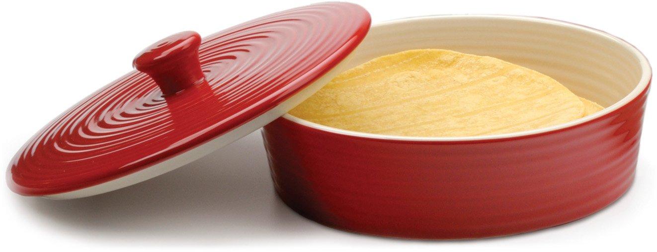 RSVP Red Stoneware Tortilla Warmer MAIZ-R