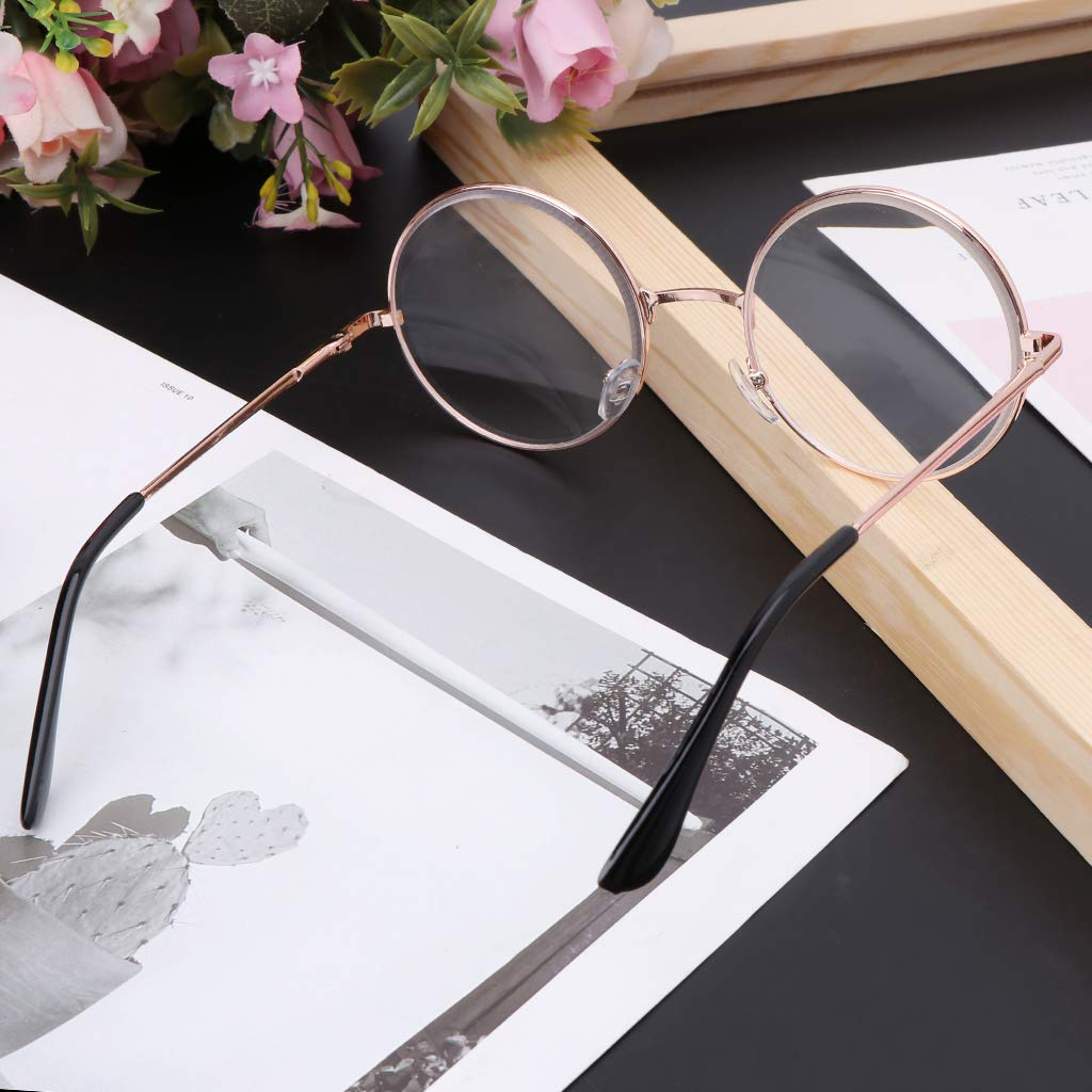 1.0-1.5-2.0-2.5-3.0-3.5-4.0 EAPTS Men Women Retro Metal Round Frame Myopia Eyeglasses Spectacles Eyewear
