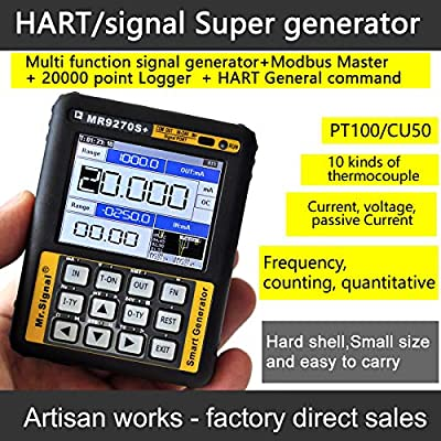 HART & Moden 4-20mA Signal Generator Calibration Current Voltage PT100 thermocouple Pressure Transmitter Logger Frequency MR9270S+