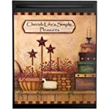 Primitive Country Charm Dishwasher Magnet Cover, Brown, Magnet, Paper