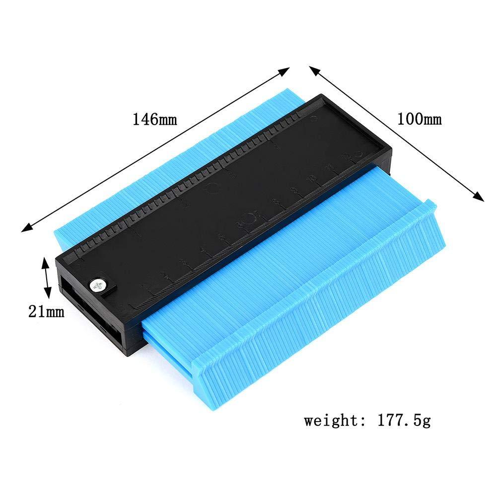 Zexa Template Measuring Tool, 10 Inch Plastic Contour Gauge Multifunctional Shape Duplicator Edge Shaping Measure Ruler