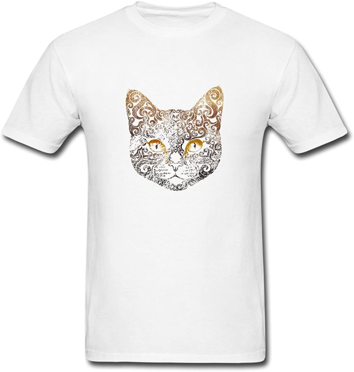 LINGONIE Cat Woman Mens Fashion Cotton Solid Color Tee t Shirts