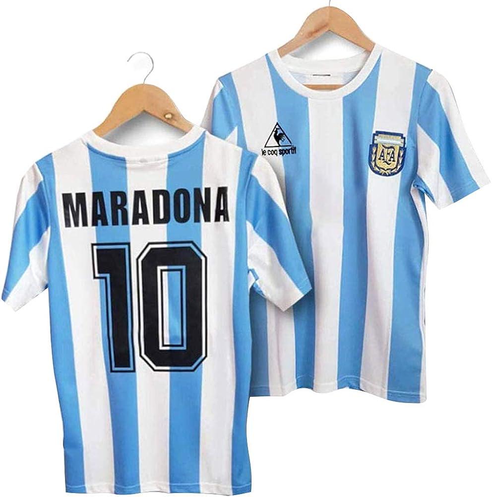 LICHENGTAI Retro 1986 Argentina Uniforme de fútbol,Camiseta Maradona Argentina 1986,Camiseta Argentina Futbol,Camiseta Argentina Hombre,Camiseta ...