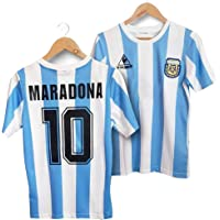 Wizsoula Retro 1986 Argentina Uniforme de Fútbol, Traje de Camiseta de Fútbol de Masculino, Camiseta Maradona, Material…
