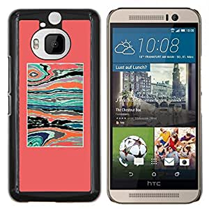 Stuss Case / Funda Carcasa protectora - Abstract Pink Teal Paint Syrreal - HTC One M9+ M9 Plus