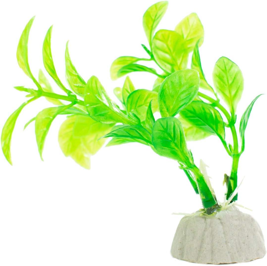 DIGIFLEX 10PC Aquarium Fish Tank Plants Artificial Aquarium Ornaments Assorted Sizes Colours /& Shapes