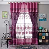 Best Norbi Curtains For Living Rooms - Norbi Floral Tulle Sheer Voile Panel Drapes Window Review