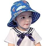 LLmoway Kids UPF50+ Bucket Sun Hat Baby Toddler Wide Brim UV Protection Play Hat