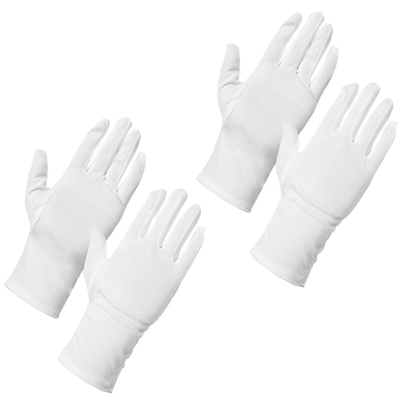 Amos Dermatológicos Hidratante Crema de Manos Guantes de algodón la piel seca eczema absorción Spa dormir belleza guantes (2pares)