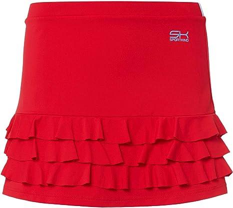 Falda de Tenis con pantal/ón Integrado Color Gris SPORTKIND