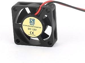 uxcell DC 12V 30mmx30mmx10mm Brushless 5 Vanes Cooling Cooler Case Fan Motor