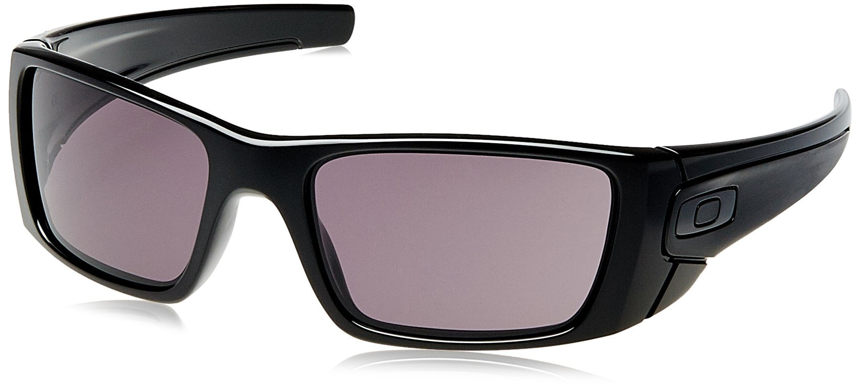 Oakley Fuel Cell Rectangular Sunglasses,Polished Black Frame/Warm Grey Lens,one size by Oakley