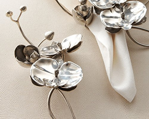 """Vagabond House Pewter Orchid Napkin Ring 8"""" Long"""