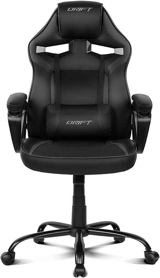 Drift DR50B - Silla Gaming Profesional, (Polipiel Alta Calidad ...