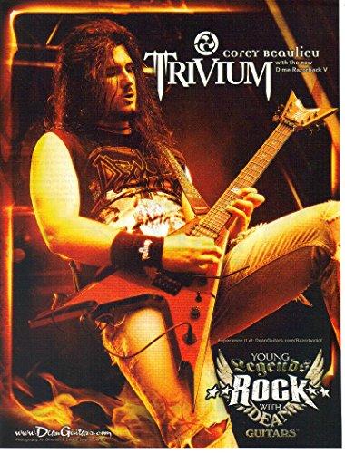 Print ad: 2007 Dean Guitars, Dime Razorback V, Corey Bealieu Trivium