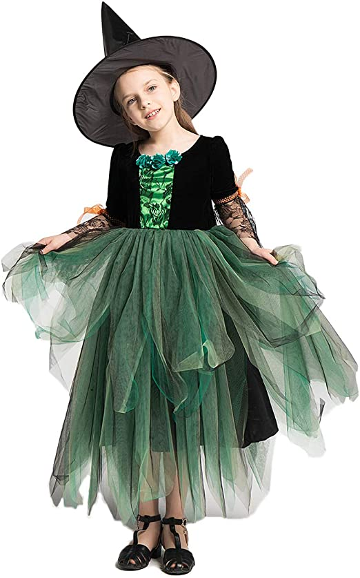 ZED- Disfraz de niño Bruja Bruja Disfraz de Halloween Disfraz de ...