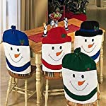 Wendin Christmas Decorations Snowman Chair Back Covers Christmas Dining Room Chair Covers Set of 4