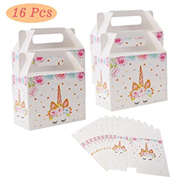 Amazon.com: Unicornio cajas de regalo suministros de fiesta ...
