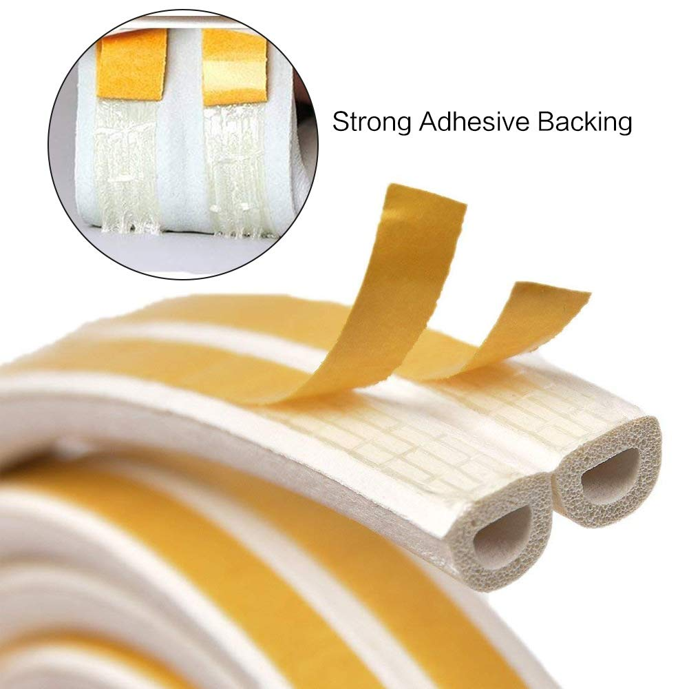 1M Grey Expower Adhesive Under Door Sweep Weather Stripping Soundproof Rubber Bottom Seal Strip Draft Stopper Draught Excluder 39 Length x 2 Width
