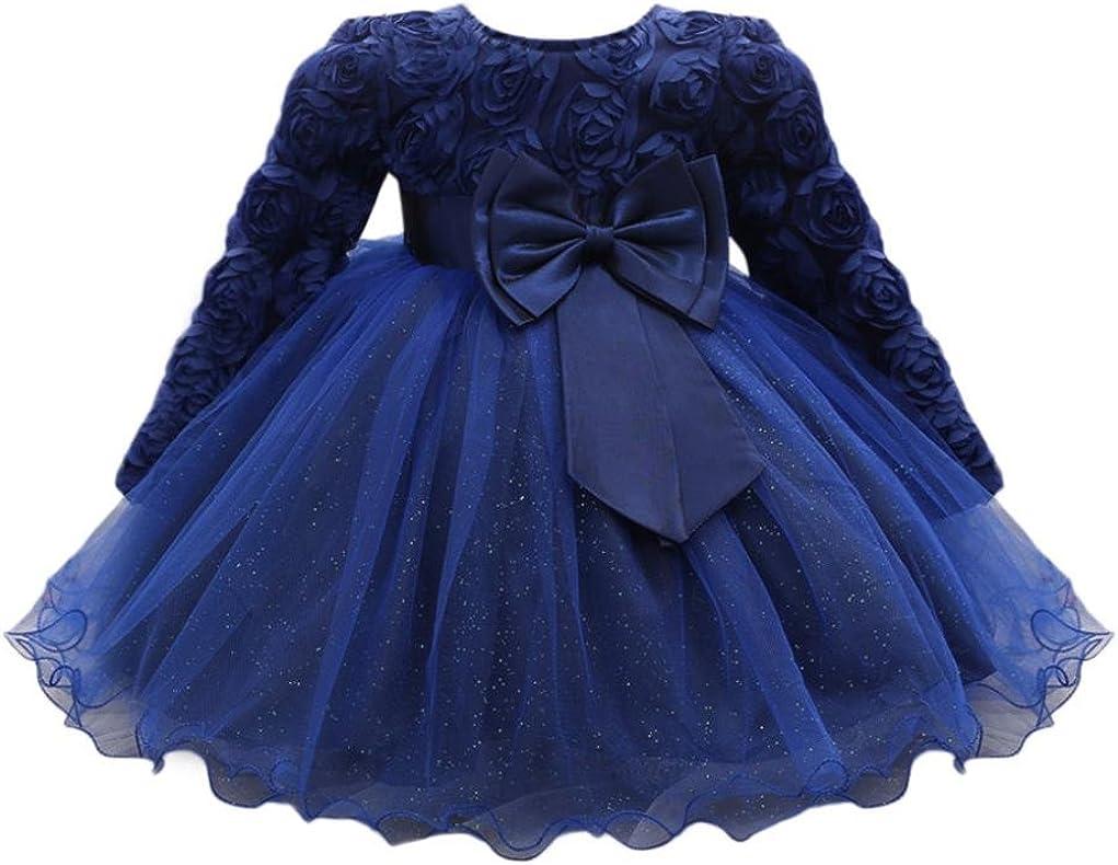 Amlaiworld Baby Prinzessin Party Kleider M/ädchen Niedlich Hochzeit Kleid Sommer fr/ühling Kinder Langarmshirt Mode T/üt/ü Kleidung 0-18Monate