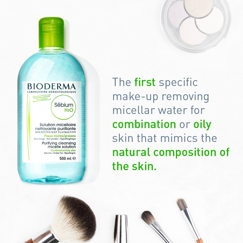 Bioderma Sebium H2o Micellar Water 167 Fl Oz Twin Pack Ovale Brightening 200ml Luxury Beauty