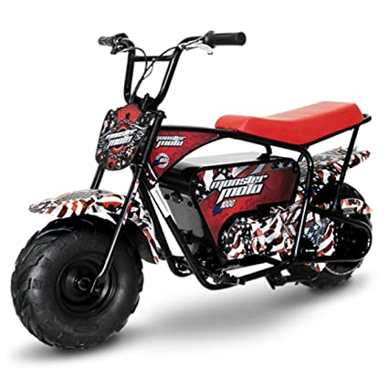 Monster Moto 1000 Watt Electric Mini Bike-1000W (MM-E1000-AF)(American Flag)