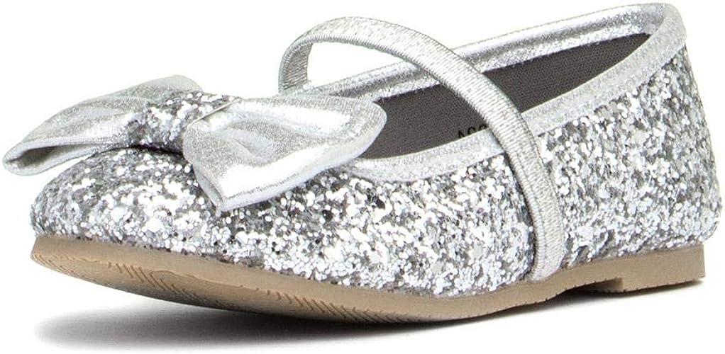 Walkright Girls Silver Glitter Shoes