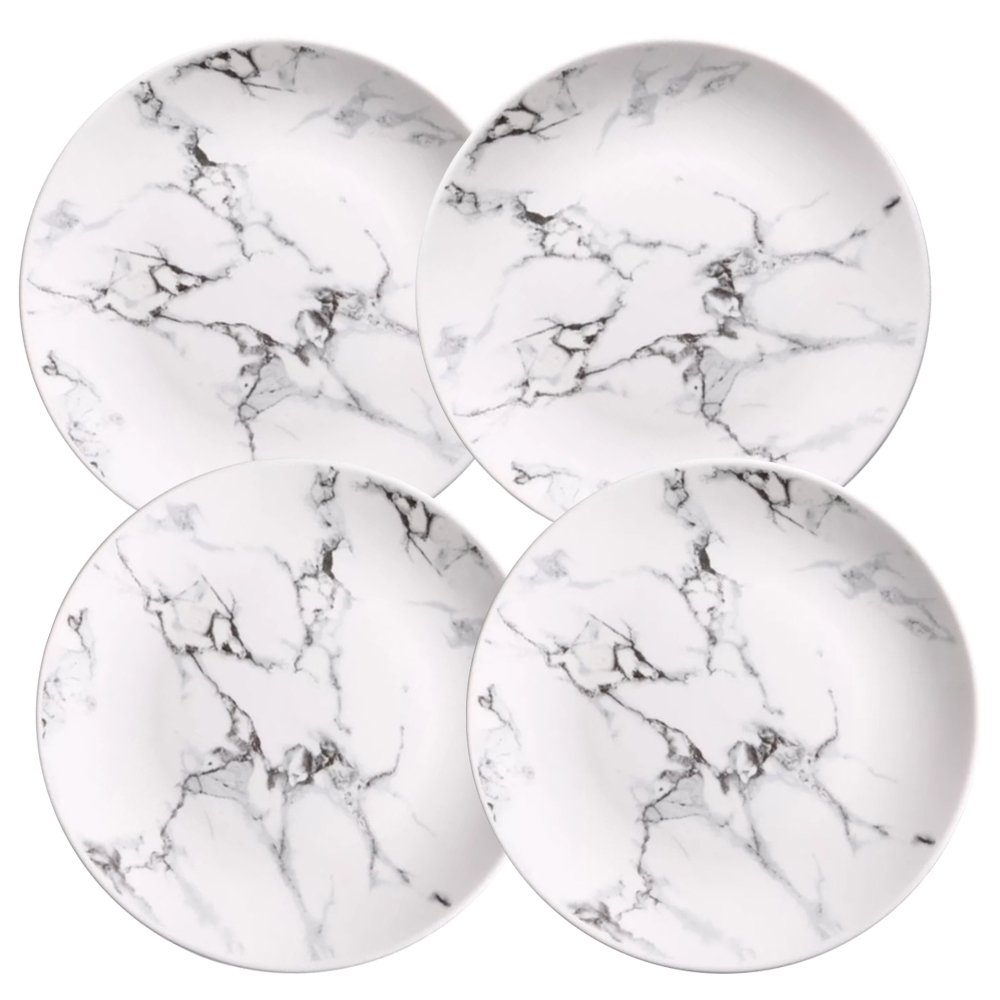 Coffeezone Marble Design Porcelain Dinner Plates Set of 4 (8 inches) Marbleplate010