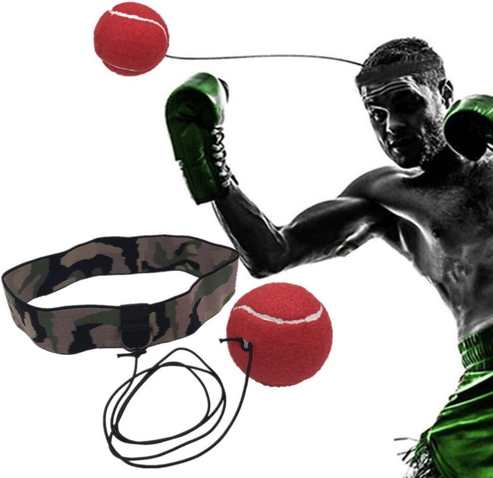 lywey Fight For Reflex速度ボクシングトレーニング練習ツール練習独習リバウンドボール+ヘッドバンド(Army 緑) for Kids Adult レッド