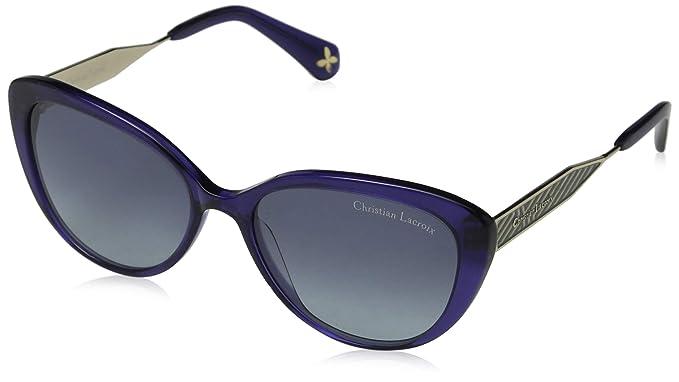 Christian Lacroix CL Gafas de Sol, Azul (Crystal Navy/Grey ...