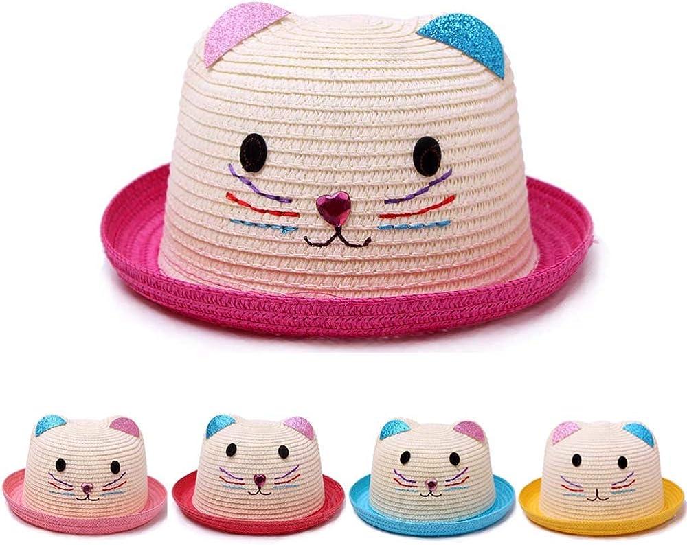 Sonnenhut Mädchen Kinder Hut Sommerhut Mädchenhut Sonnenschutz Kappe Sommer