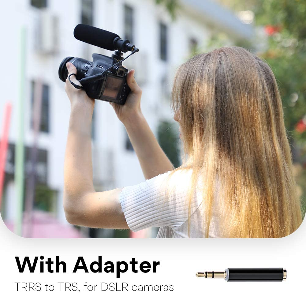 Nikon Phone Video Camera Microphone MAONO CM10 Super-Cardioid Condenser Interview Shotgun Mic for Canon Sony DSLR Cameras Android Camcorder PC