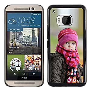 Paccase / SLIM PC / Aliminium Casa Carcasa Funda Case Cover - Cute Baby in Autumn - HTC One M9