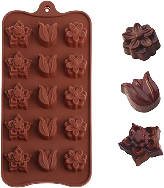 Backformen aus Silikon zum Backen, Bonbons und Schokolade