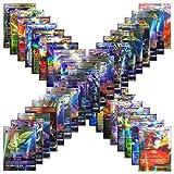 100pcs Poke Cards TCG Style Card, mega ex Cards Full Art, Includes 59 ex Cards 20 mega ex Cards 20 gx Cards 1 Energy Card Look alikes