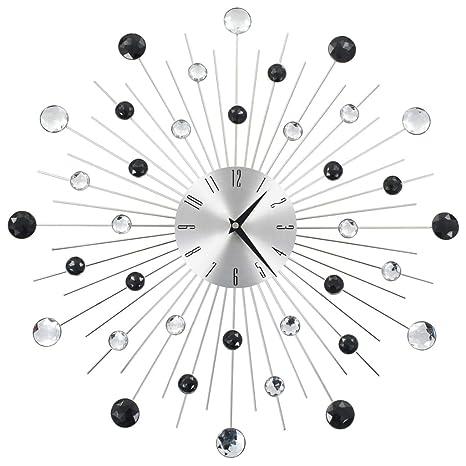 vidaXL Reloj Pared Moderno Diseño Rayos Original Decoración Salón Baño Cocina