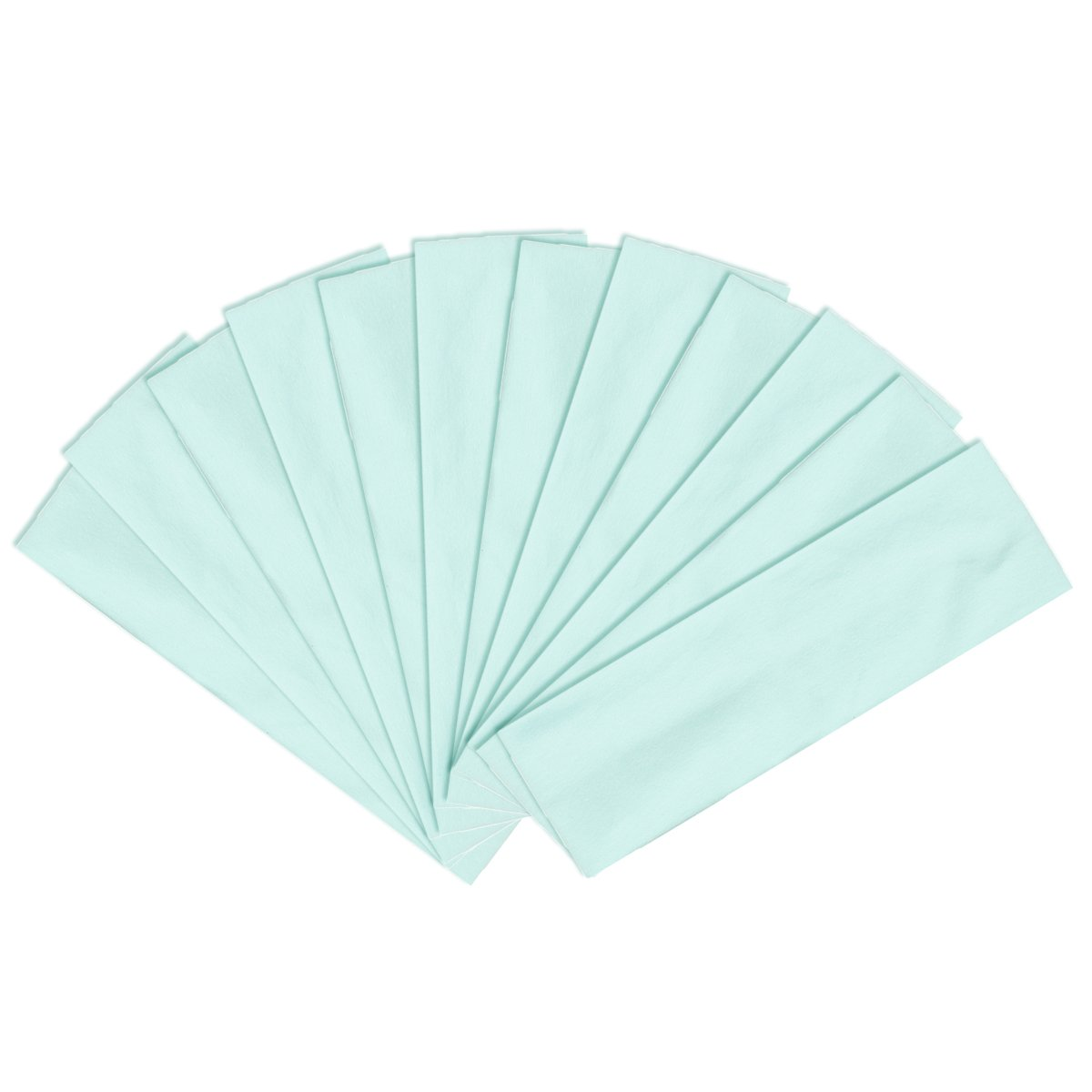 High Quality Cotton Elastic Yoga Fashion Wide Headband, Solid Light Seafoam (12 pack)