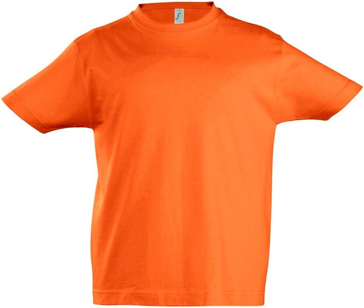 SOLS - Camiseta de manga corta - para niño Naranja naranja 4 años: Amazon.es: Ropa y accesorios