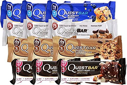 Quest Bar Americas #1 Favorite Protein Bar Variety Pack 12- Bars, 4 flavor variety by Quest Nutrition