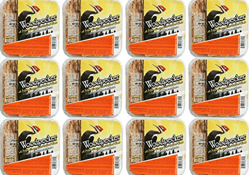 (Pine Tree Farms 12 Pack Woodpecker High Energy Suet 11oz. 6011 Made in USA)